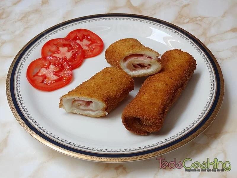 Flamenquines de pan de molde con york y queso