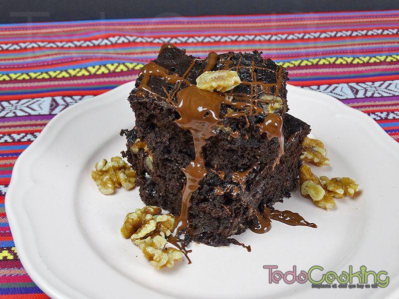 Brownie saludable de alubias rojas