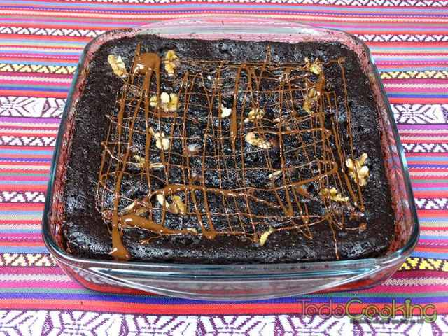 Brownie saludable de alubias rojas