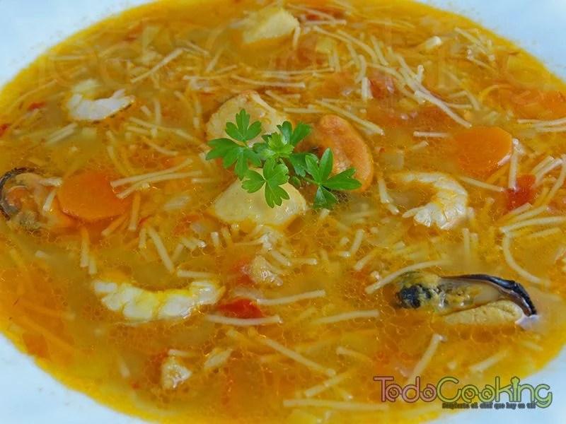 sopa de marisco y pescado