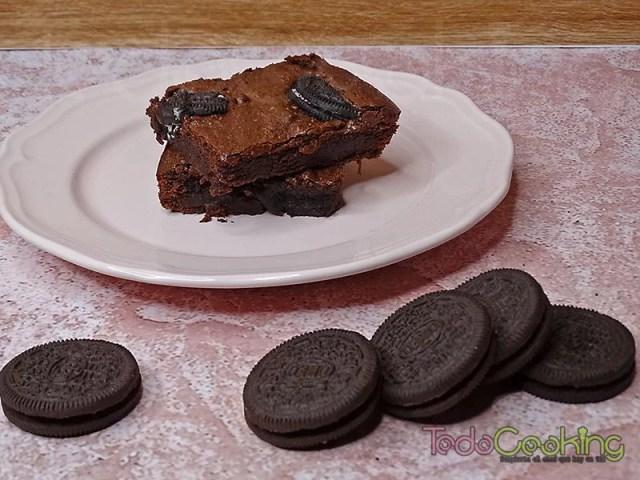 Brownie de chocolate con Oreo 02