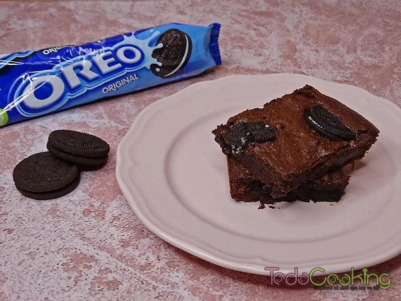 Brownie de chocolate con Oreo 05
