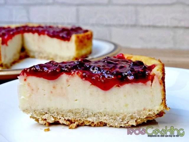 Cheesecake vegana con frambuesas 04