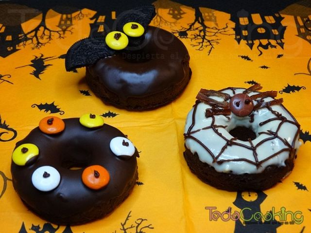 Donuts de Chocolate saludables Halloween