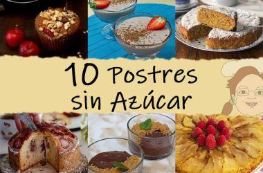 10 postres sin azucar
