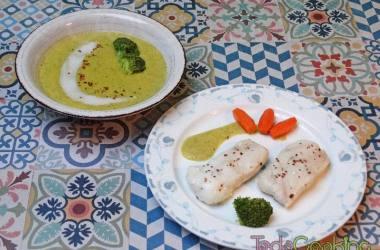 Crema verduras con leche de coco y merluza al vapor 04