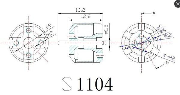 TD1104 4000kv Brushless Motor(360)