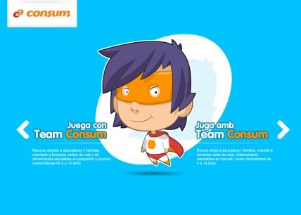 Team Consum es una divertida web para aprender a comer
