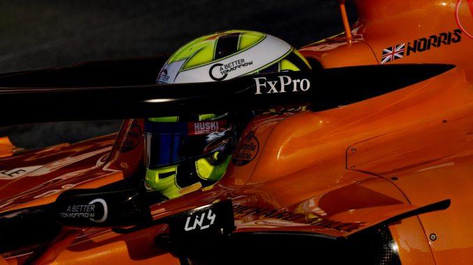Lando Norris, dentro del MCL34 de McLaren