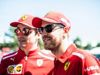 Vettel Leclerc Ferrari Australia 2019