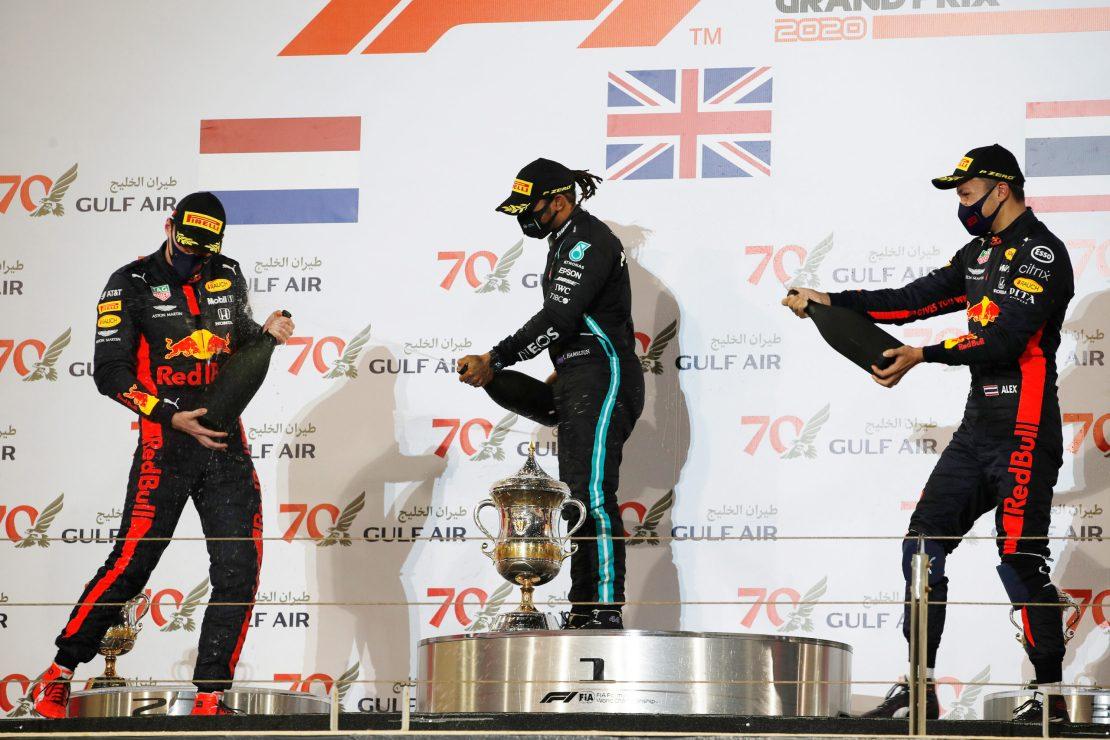 Max Verstappen, Alexander Albon, Lewis Hamilton