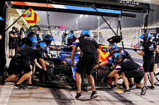 Tests F1 Bahrein Alonso pitstop