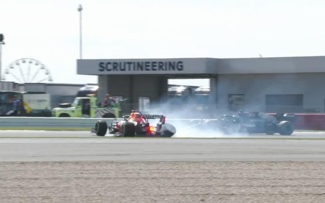 Accidente Hamilton Verstappen Silverstone 2021