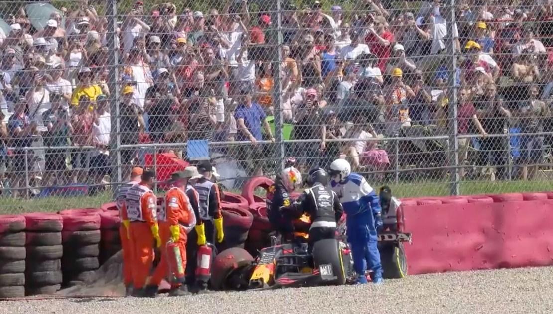 Verstappen accidente Silverstone 2021