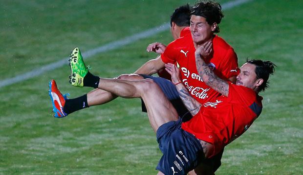 Entrenamiento abierto de la selección chilena en Belo Horizonte