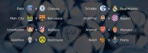 Los duelos entre Manchester City y Barcelona, y PSG y Chelsea se repiten.