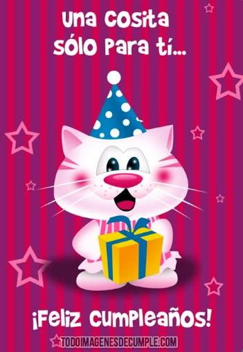 imagenes de feliz cumpleaños con gatito