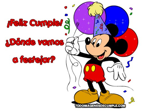 IMAGENES DE feliz cumpleaños con mickey