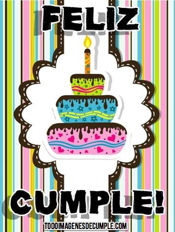 imagenes de feliz cumple con pastel