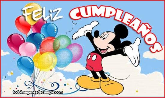 tarjetas de feliz cumpleaños con mickey
