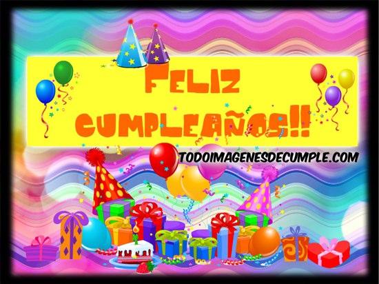 imágenes de feliz cumpleaños con globos y regalos