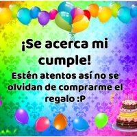 11 imágenes de cumpleaños con frase SE ACERCA MI CUMPLE