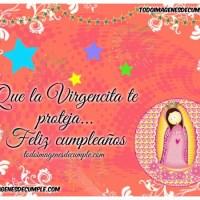 10 imágenes de cumpleaños con dibujos de la Virgen
