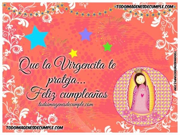 imagenes de cumpleanos dibujos virgen maria