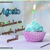 Imágenes de cumpleaños mes de AGOSTO para descargar gratis