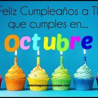Imágenes de cumpleaños mes de OCTUBRE para descargar gratis