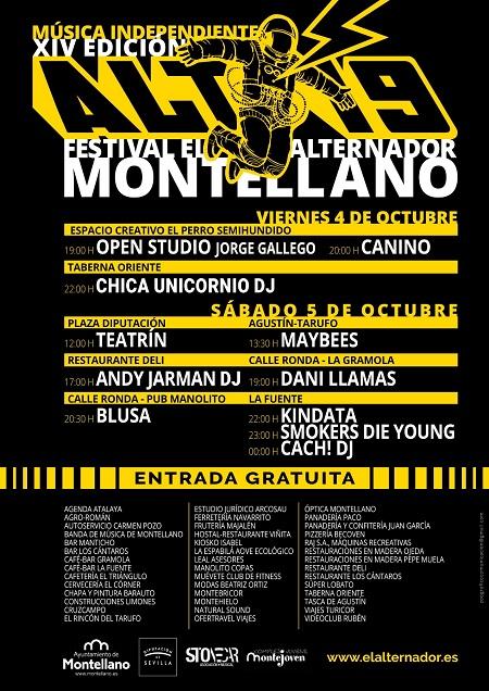 Cartel del festival El Alternador