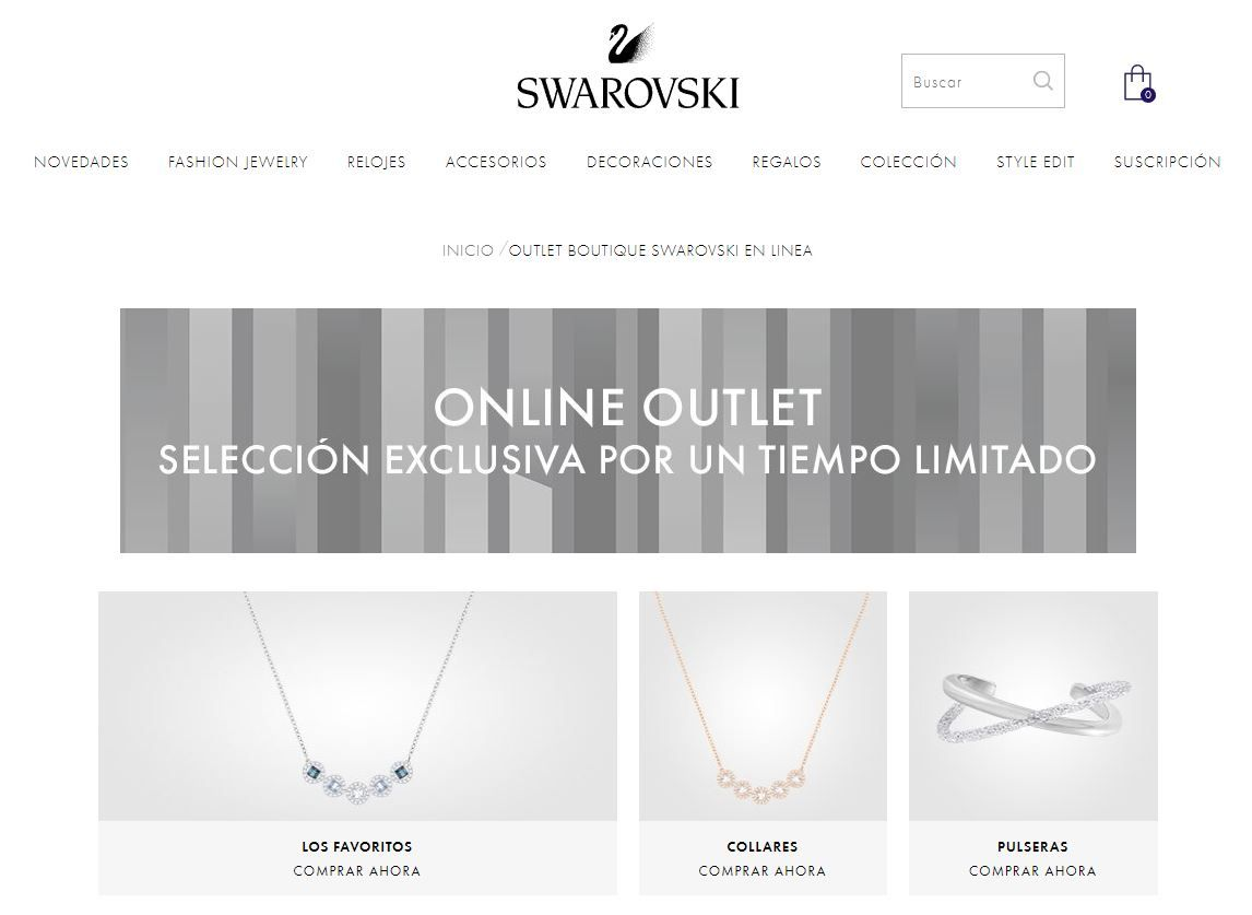 Outlet online de Swarovski