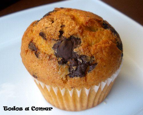 Receta de muffins de calabaza con pepitas de chocolate