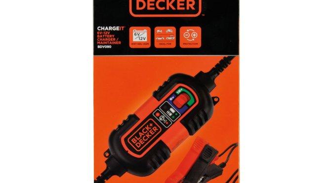 BLACK + DECKER BDV090 CARGADOR Y MANTENEDOR DE BATERIAS, 6-12V COCHE Y MOTO