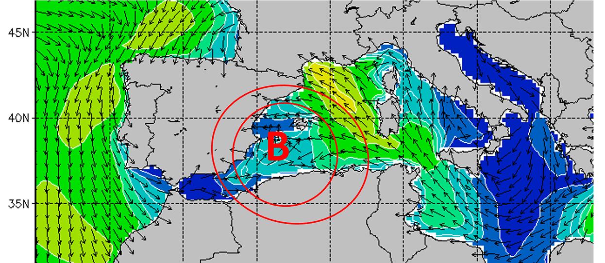Temporal en el Mediterráneo