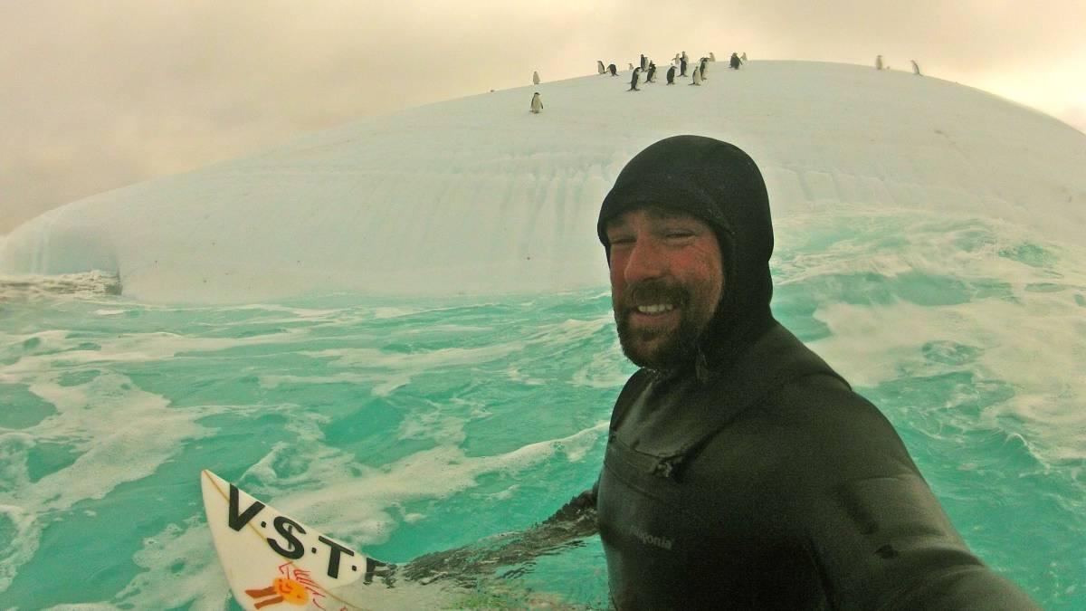 Kepa Acero en su viaje a la antártida