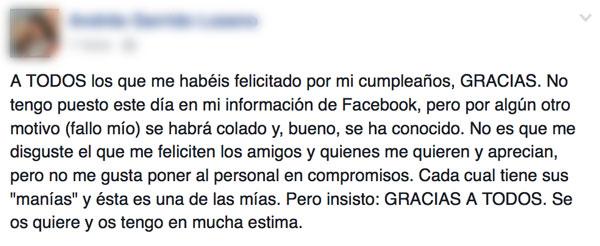Facebook ¡no muestres mi cumpleaños!