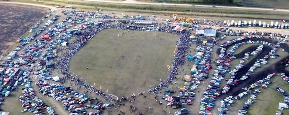 Vista aérea de Jineteadas en Palmitas