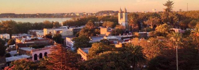 Vista aérea de Colonia del Sacramento