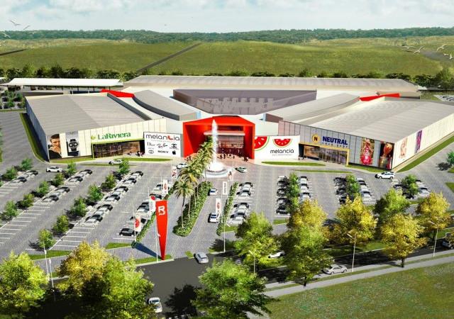 Vista aérea del Shopping Melancía