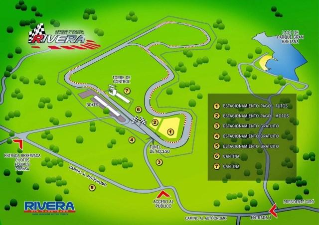 Mapa del Autódromo Internacional de Rivera