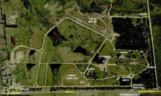Mapa del parque de la hispanidad