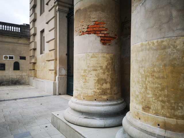 Columnas exteriores de la Catedral De san José de Mayo