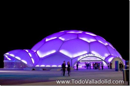 Valladolid cupula del milenio noche