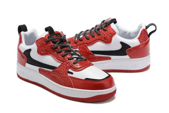 NIKE Air Force 1 Reptil Red 2