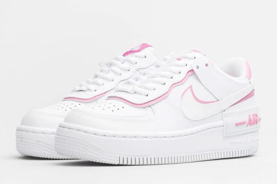 NIKE Air Force 1 Shadow Blancas y Rosas 2