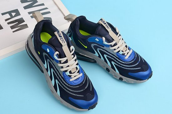 NIKE Air Max 270 React V3 Triple Blue 1