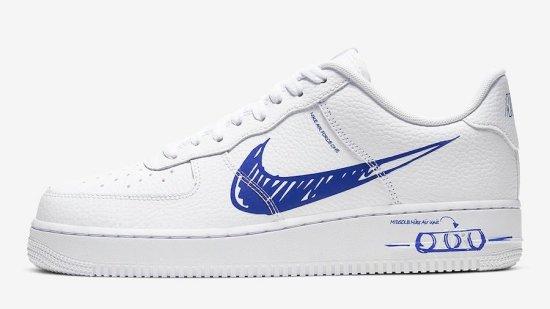 Nike Air Force 1 Low Sketch Blue 1