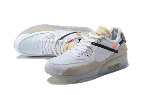 Off White x NIKE Air Max 90 Blancas 2
