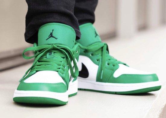 air jordan 1 low pine green 5